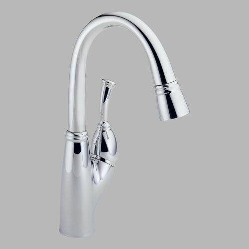 Allora Single Handle Single Hole Bar / Prep Sink Faucet with Pull Out Spray and ...