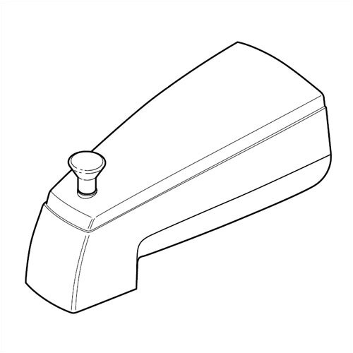 Delta Wall Mount Non-metallic Diverter Tub Spout Trim
