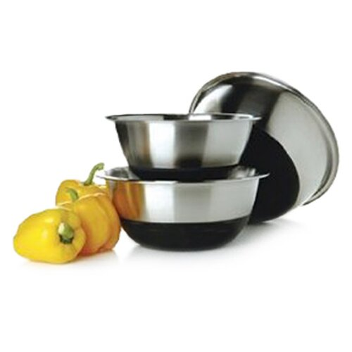 Three Piece Non Skid Stainless Steel Bowl Set