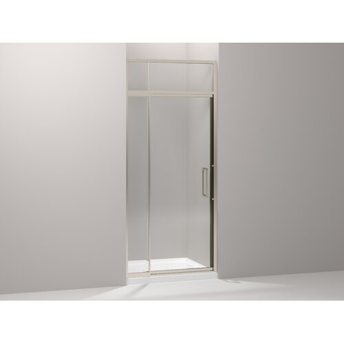 "Kohler Lattis 36"" - 39"" Pivot Shower Door with Sliding Steam Transom"