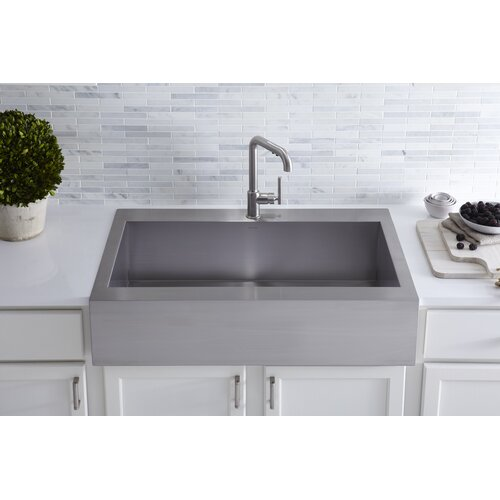 Kohler Single Basin Kitchen Sink : Vault 36