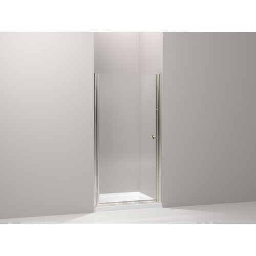"Kohler Fluence 32.5"" - 34"" Pivot Shower Door with 0.25"" Crystal Clear Glass"
