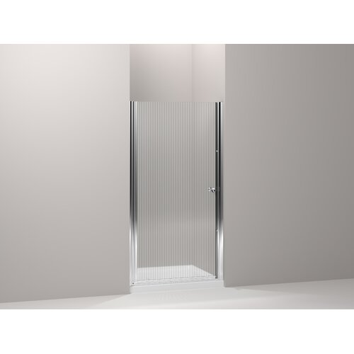 "Kohler Fluence 36.25"" - 37.75"" Pivot Shower Door with 0.25"" Falling Lines Glass"