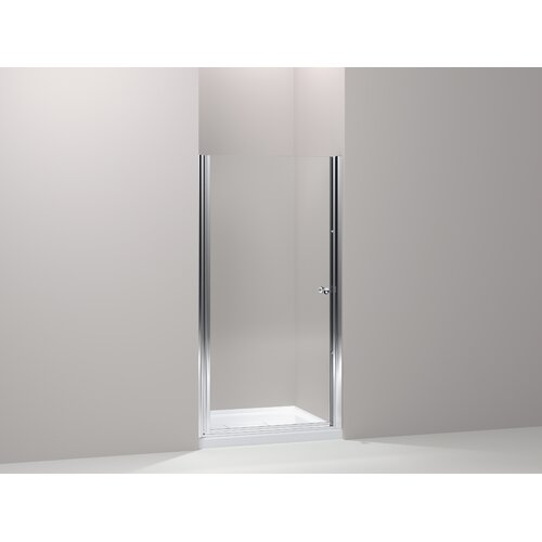 "Kohler Fluence 27.25"" - 28.75"" Pivot Shower Door with 0.25"" Crystal Clear Glass"