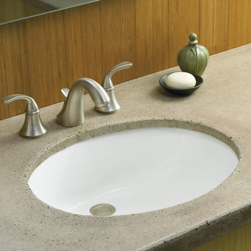 "Kohler Caxton 17"" Undermount Bathroom Sink with Overflow"