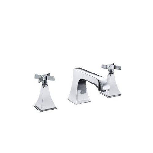 Kohler Memoirs Deck-Mount Bath Faucet Trim with Stately Design and Cross Handles, Valve Not Included