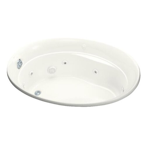 "Kohler Serif 60"" X 43"" Drop-In Whirlpool Bath with Reversible Drain and Heater"
