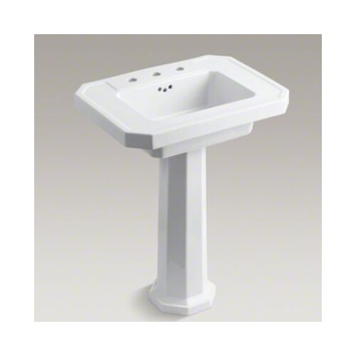 Kohler Pedestal : Kohler Kathryn Pedestal Bathroom Sink with 8
