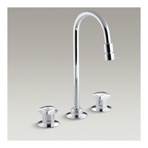 Triton Widespread Lavatory Faucet with Rigid Connections and Vandal-Resistant Aerator, Requires ...