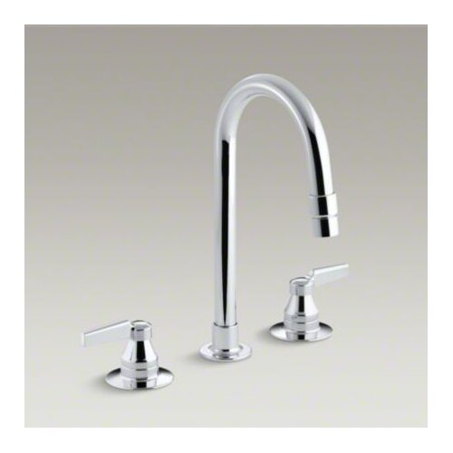 Triton Widespread Lavatory Faucet with Vandal-Resistant Aerator and Rigid Connections, Requires ...