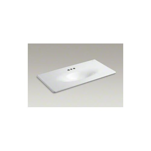 "Kohler Iron/Impressions 43"" Cast Iron One-Piece Surface and Integrated Lavatory with 4"" Centers"