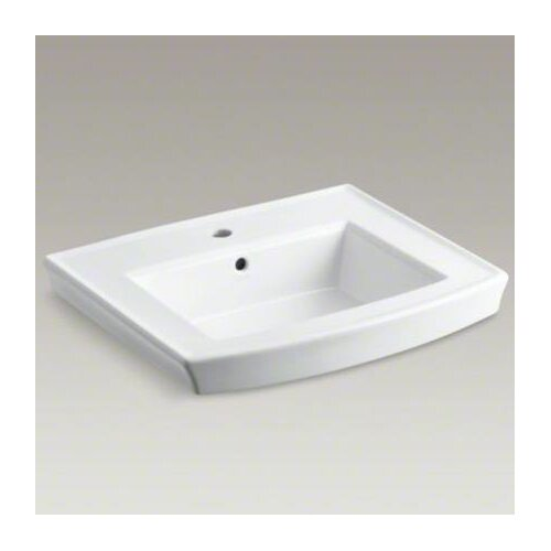 Archer Pedestal Lavatory Basin with Single-Hole Drilling