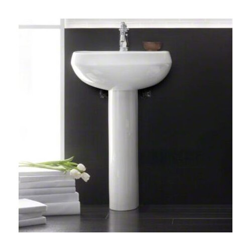 Kohler Pedestal : Kohler Wellworth Pedestal Lavatory with Single-Hole Drilling & Reviews ...