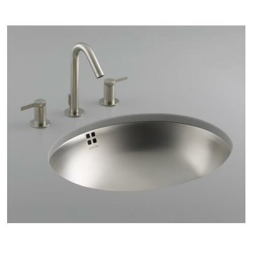 Kohler Bachata Stainless Steel Bathroom Sink with Overflow