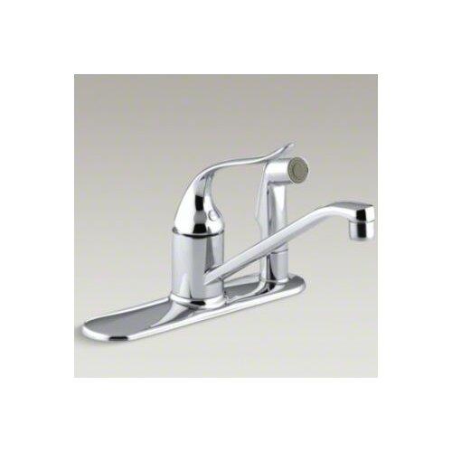 Coralais Single-Control Kitchen Faucet with Sidespray Through Escutcheon and 8-1/2