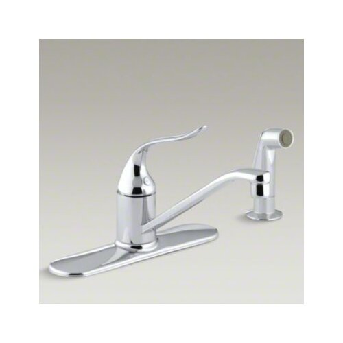Coralais Single-Control Kitchen Faucet with Escutcheon, Sidespray and 8-1/2
