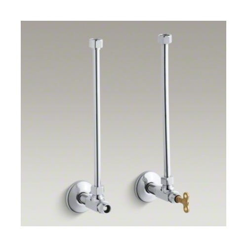 """Kohler Pair 1/2"""" Npt Angle Supply with Annealed Vertical Tube and Loose-Key Stop"""