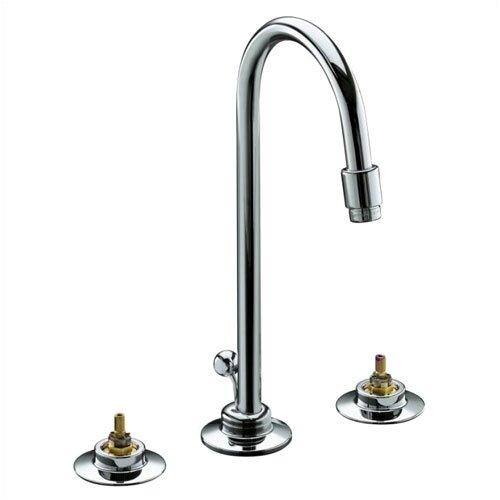 Triton Widespread Lavatory Faucet with Gooseneck Spout, Requires Handles