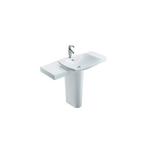 Kohler Escale Pedestal Lavatory with Single-Hole Faucet Drilling