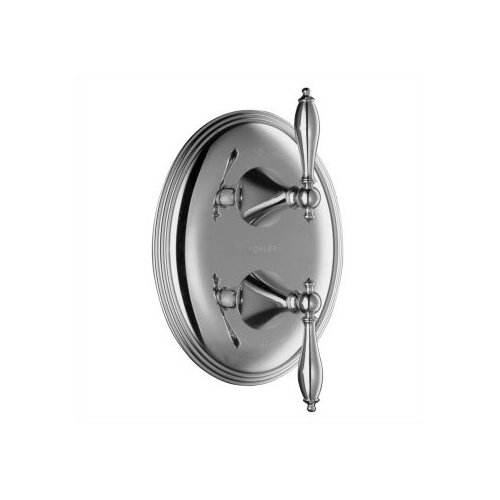 Kohler Finial Traditional Stacked Valve Trim with Lever Handles, Valve Not Included