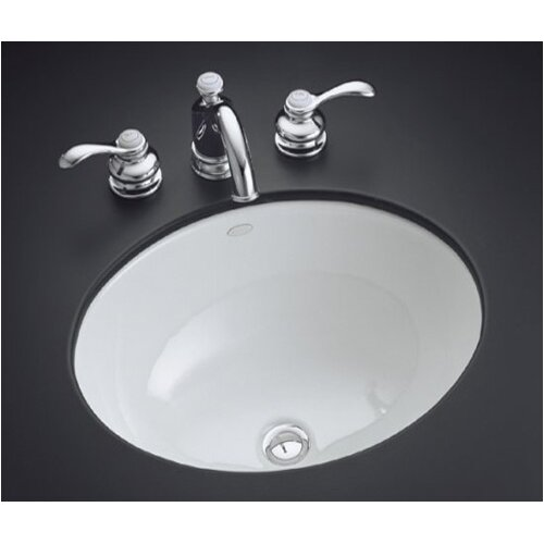 "Kohler Caxton 17"" Undermount Bathroom Sink"
