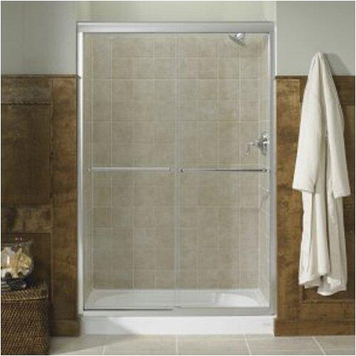 "Kohler Fluence 47.63"" W x 70.31"" H Sliding Shower Door with 0.25"" Crystal Clear Glass"