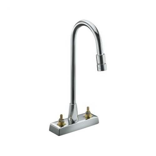 Triton Centerset Lavatory Faucet with Vandal-Resistant Aerator, Requires Handles