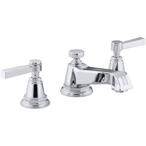 Kohler Pinstripe Widespread Lavatory Faucet with Lever Handles