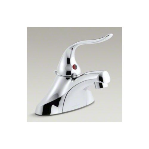 "Kohler Coralais Single-Control Centerset Lavatory Faucet with Pop-Up Drain, 1.5 GPM Spray and 5"" Lever Handle"