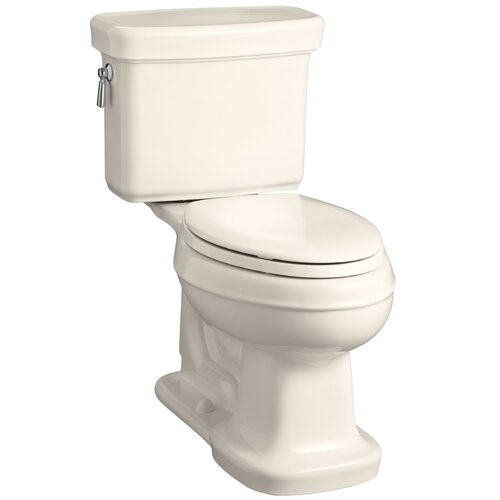 Kohler Bancroft Comfort Height Two-Piece Elongated 1.28 Gpf Toilet with AquaPiston Flush Technology