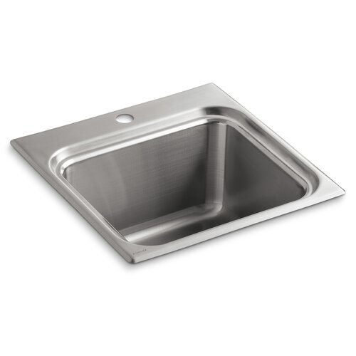 Ballad Self-Rimming Utility Sink with Single-Hole Faucet Punching