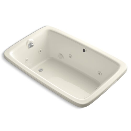 """Kohler Bancroft 66"""" X 42"""" Drop-In Whirlpool Bath with Heater Without Jet Trim"""