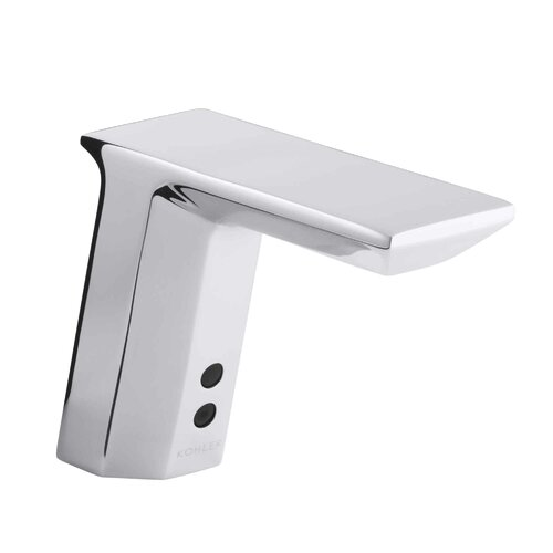 Geometric Touchless Deck-Mount Faucet with Temperature Mixer