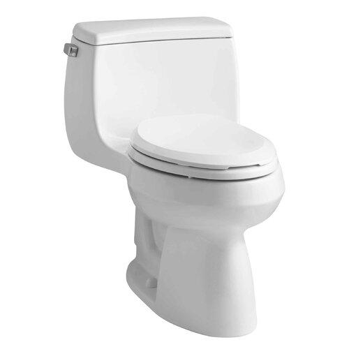 Gabrielle Comfort Height One-Piece Elongated 1.28 Gpf Toilet with AquaPiston Flush Technology ...