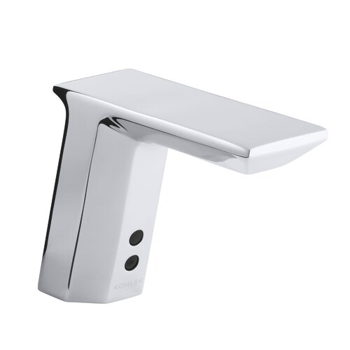Geometric Touchless Ac-Powered Deck-Mount Faucet with Mixer
