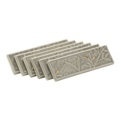 Gilded Meadow Transluscent Cashmere Decorative Tile (Set Of 6)