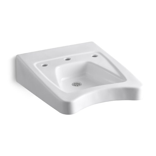 "Kohler Morningside 20"" X 27"" Mounted/Concealed Arm Carrier Wheelchair Bathroom Sink with 11-1/2"" Centers"