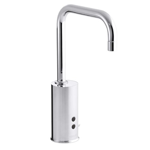 Gooseneck Touchless Deck-Mount Faucet with Temperature Mixer