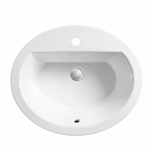 Bryant Oval Self-Rimming Lavatory with Single-Hole Drilling