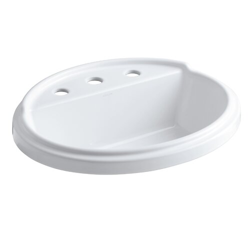 "Kohler Tresham Oval Self-Rimming Lavatory with 8"" Centers"