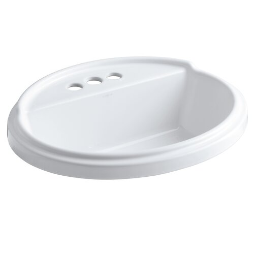 "Kohler Tresham Oval Self-Rimming Lavatory with 4"" Centers"