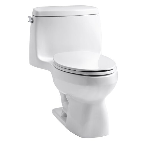 Kohler Santa Rosa One-Piece Compact Elongated 1.6 Gpf Toilet with AquaPiston Flush Technology and Left-Hand Trip Lever