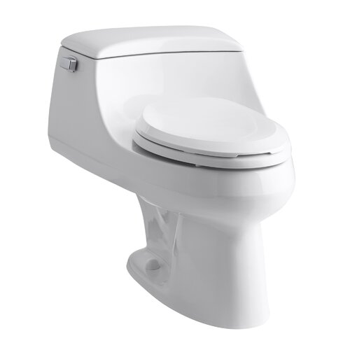 Kohler San Raphael One-Piece Elongated 1.6 Gpf Toilet with Ingenium Flush Technology, Left-Hand Trip Lever, Concealed Trapway and French Curve Toilet Seat