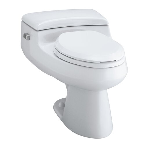 San Raphael Comfort Height One-Piece Elongated 1.0 Gpf Toilet with Pressure Lite Flush ...