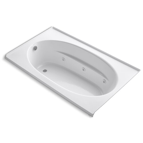 """Kohler Windward 72"""" X 42"""" Alcove Whirlpool Bath with Integral Flange and Left-Hand Drain"""