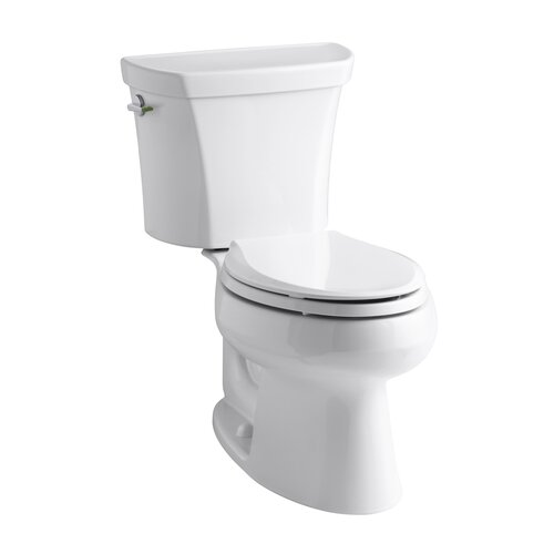 Wellworth Two-Piece Elongated Dual-Flush Toilet with Left-Hand Trip Lever