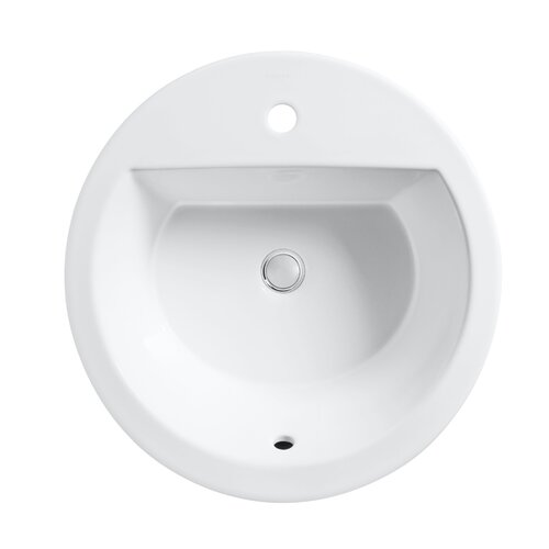 Kohler Bryant Round Self-Rimming Lavatory with Single-Hole Drilling