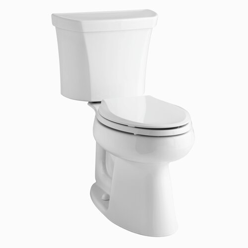 Highline Comfort Height Two-Piece Elongated 1.6 Gpf Toilet with Class Five Flush Technology, ...