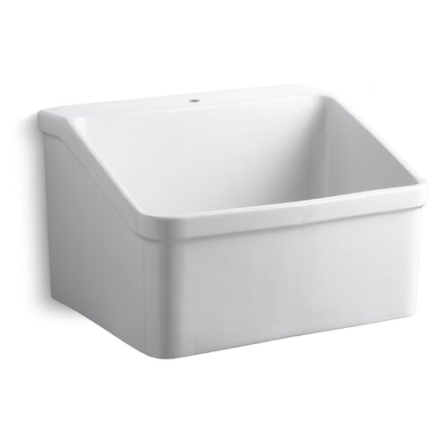 Hollister Utility Sink with Single-Hole Faucet Drilling Wayfair