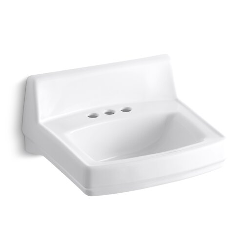 "Kohler Greenwich 20-3/4"" X 18-1/4"" Wall-Mount/Concealed Arm Carrier Bathroom Sink with 4"" Centers"